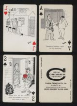 Collectable Vintage 1963 playing cards. beer drinking cartoons,